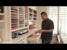 {Organization} Wow! Beautiful Craft Room Tour - Video - Scrap this...and that! | Scrap this...and that!