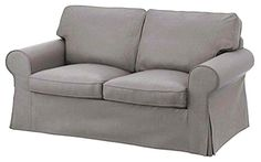 The Ektorp Two Seater Sofa Bed Cover (Durable Heavy Cotton) Replacement Is Custom Made For Ikea Ektorp 2 Seater Sleeper Only Slipcover (Grey) -- Want additional info? Click on the image.