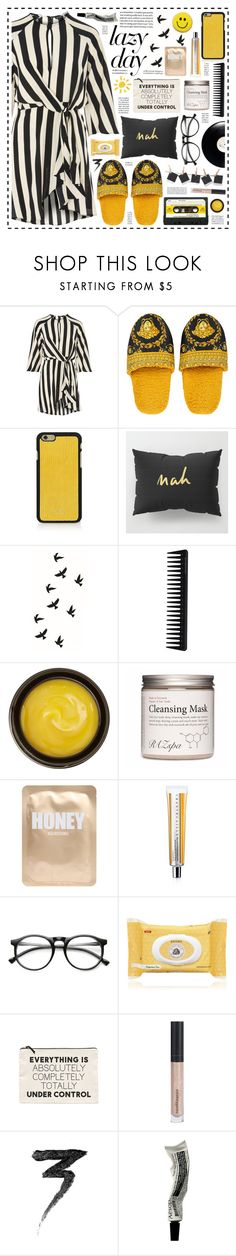 """""""Under Control!"""" by hennie-henne ❤ liked on Polyvore featuring Topshop, Versace, Vianel, GHD, Polaroid, de Mamiel, Lapcos, Chantecaille, ZeroUV and Burt's Bees"""