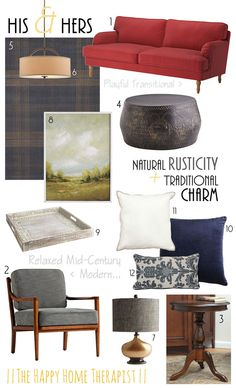 His & Hers - Natural Rusticity + Traditional Charm | The Happy Home Therapist
