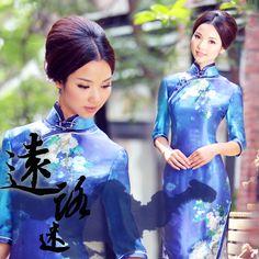 #30 - Lost Voyage  -   Read full story: http://www.elegente.com/short-silk-fashion-cheongsam-blue.html