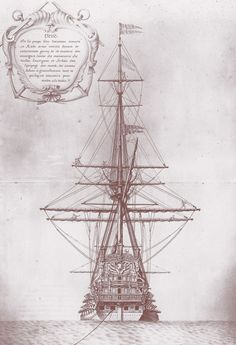 Ship of the Sun King seen from behind Plate from Colbert& album - Ship of the Sun King seen from behind Plate from Colbert& album - Pirate Ship Drawing, Old Sailing Ships, Pirate Art, Naval History, Charter Boat, Wooden Ship, Nautical Art, Navy Ships, Ship Art