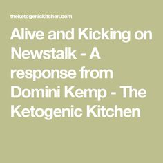 Alive and Kicking on Newstalk - A response from Domini Kemp - The Ketogenic Kitchen