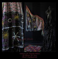Ethnic bohemian nomad shawl scarf  wearable art hand by Jevda, kr3300.00