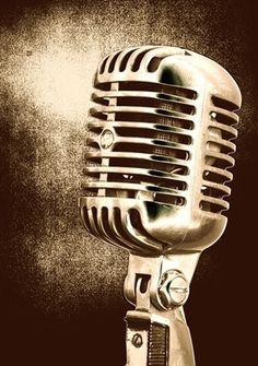 Old school microphone.