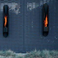 Minimalist Tube Outdoor Bioethanol Fireplace via DigsDigs