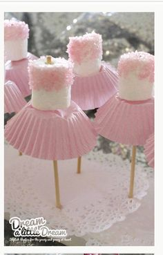 Marshmellow ballerinas from the whoot