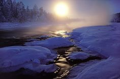 Lapland, Finland where the kids can meet Father Christmas