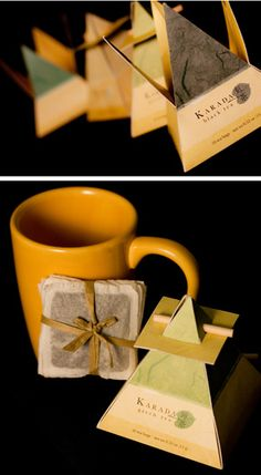 Tea packaging. The design of the packaging gives the product a look of luxury.