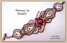 BPBR082  Harmony  Brick Stitch Bracelet by TrinityDJ on Etsy, $10.00