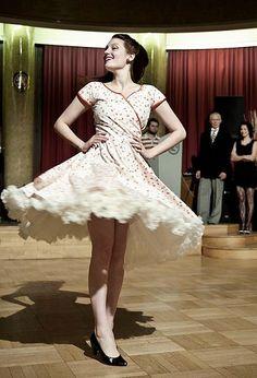 Dansen in een Doris Design petticoat