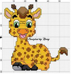 Schema giraffina maschietto punto croce