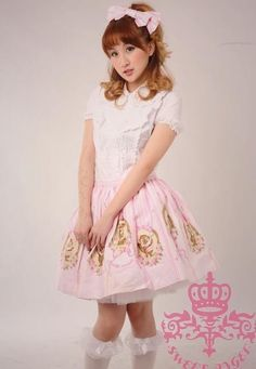 (Replica)Dream of Lolita IW Forest Band Prints Skirt 2 Colors (40.99, blue)