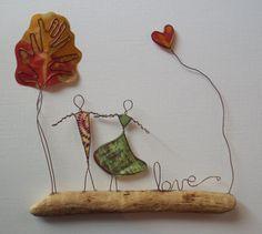 Wire Art: Driftwood, Copper Wire & Paper...