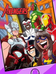 Marvel takes a selfie with the All-New All-Different Avengers! Avengers Comics, Marvel X, Captain Marvel, Ms Marvel Kamala Khan, Thor Valkyrie, Comic Books Art, Book Art, Young Avengers, Silver Surfer