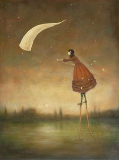 ♨ Intriguing Images ♨ unusual art photographs, paintings & illustrations - Star Catcher by Duy Huynh Illustrations, Illustration Art, Art Magique, Art Fantaisiste, Art Graphique, Whimsical Art, Art Plastique, Oeuvre D'art, Love Art