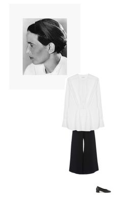 """""""/"""" by darkwood ❤ liked on Polyvore featuring Jennifer Behr, Sally Lapointe, Tome, Maryam Nassir Zadeh and modern"""