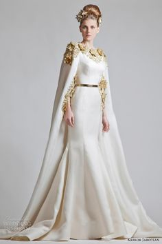 Krikor Jabotian Wedding Dresses —with long sleve n hijab also simple gold crown..well fabolous look princess