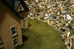 Thomas Doyle's Apocalyptic Dioramas Colossal Art, Frozen In Time, Living In New York, Little Boxes, Weird And Wonderful, Contemporary Artists, Storytelling, Art Photography, Miniatures