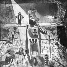 """""""plateau"""", gravura de Estela Baptista Costa, 30x30cm"""