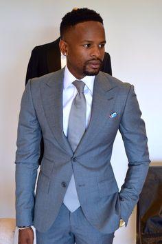 Grey Peaked Lapels Suit. Perfect!