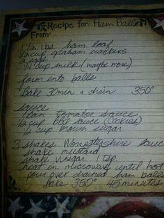 ham ball recipe