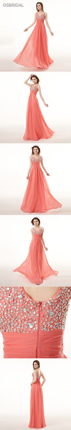 Pink 2018 Cheap Bridesmaid Dresses Under 50 A-line Chiffon Appliques Lace  Beaded Open Back Long Wedding Party Dresses  8f63051c111c