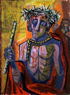 Ecce Homo, 1949 - this painting by Otto Dix was at least partly inspired by the suffering of WW2.