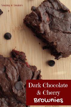 Dark Chocolate Cherry Brownies - an indulgent treat that you'd never ...