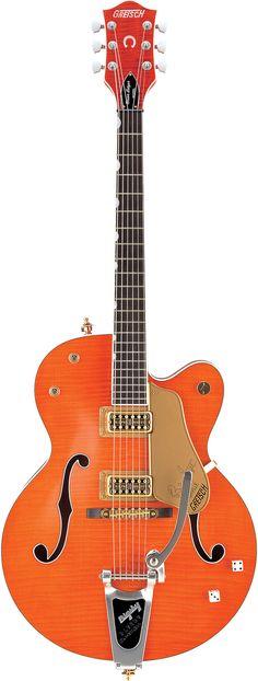 GRETSCH G6120SSU Brian Setzer Orange Tiger Flame