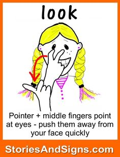 Look in Sign Language