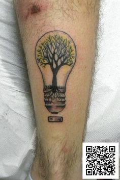 #albero #lampadina #ricordo #colorstattoo #tatuaggio #montefortetattoo2016