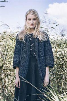 "Jacket by Sandnes 1417: Modell 4 ""Astrid"" kort jakke #Myk #strikk #knit"