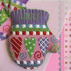 We are smitten for this mitten! Burnett & Bradley needlepoint canvas BB2082