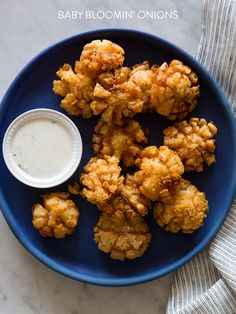 Baby Bloomin' Onions! Super sweet Superbowl food.