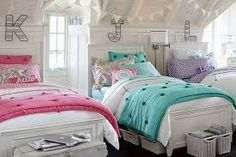 Image result for little girls bedroom with two twin beds