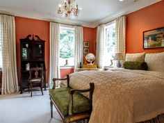 Bedroom | Stunning High Country English-Inspired Home and Horse Farm in Ligonier | Photo Credit: Finite Visual via Christie's International