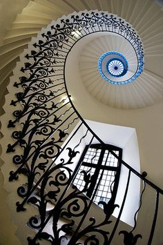 Martin Turner, The Tulip Stairs, inside the Queen's House, Greenwich Park in London.  'I had to be quick with the camera for this one as had already been told not to take photos upon arrival. I was pounced on by a very unimpressed security guard the moment I took this. I felt it worth the ticking off.'