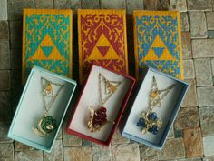 The Legend of Zelda - Zora Sapphire & others spiritual stones long necklace