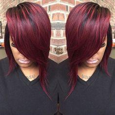 Pretty bob by @styles_4_usalon ✂️ Spicy #voiceofhair voiceofhair.com