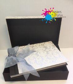 Casamento -  Livro de Honra .      Livro mais caixa feito em cartão e forrados com papeis decorativos a gosto.