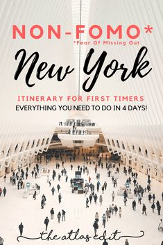Find out everything you can't miss in New York in 4 days in this Non-FOMO Itinerary for First Timers! - Travel New York - Ideas of Travel New York New York City Vacation, New York City Travel, Trips To New York, Travel Usa, Travel Tips, Travel Guides, Travel Destinations, Travel Advice, Holiday Destinations