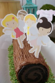 Woodland Fairy Party - Fair Cake Topper - Free Printable