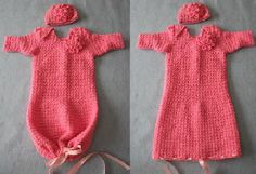 Flower Infant Sweet Pea Outfit with Matching Hat Crochet Pattern- I want to make one these!
