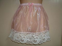 1703   Mirrow Organza Slip Mini Skirt
