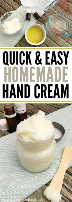 The best hand lotion you can make at home. This homemade hand cream is very easy to make and it is such a good natural lotion.