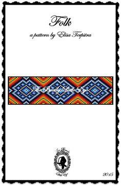 Bead Loom Pattern Loom Pattern Loom Bracelet Native American Southwest Pattern Huichol Diamond Pattern Indian Geometric Print FOLK Pattern