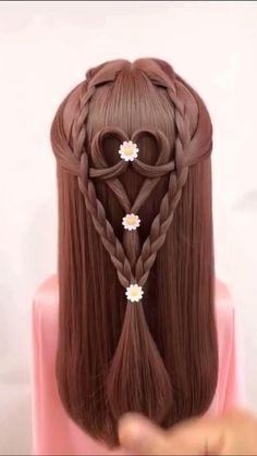 Cool Braid Hairstyles, Formal Hairstyles, Girl Hairstyles, Wedding Hairstyles, Barbie Hair, Cool Braids, Hair Color Dark, Grunge Hair, Makeup Videos