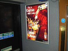 Captain Morgans in Image Zoo Glowboxes. We deliver glowbox advertising campaigns throughout Northern Ireland, we welcome all enquiries! For all of your ambient advertising needs at fantastic rates- www.imagezoo.eu