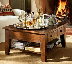 This might match nicely with my PB Dining Room set - Camden Reclaimed Wood Coffee Table #potterybarn